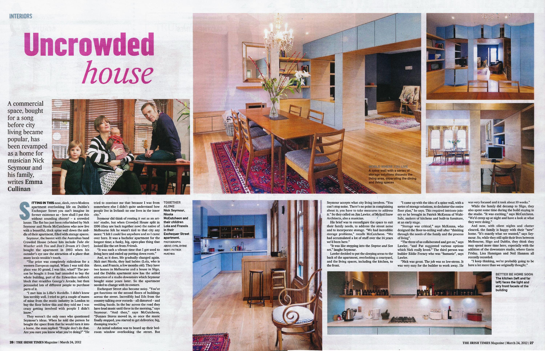 Irish Times Magazine Feature Article